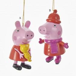 "3.5-4"" Peppa Pig Blow Mold Ornament"