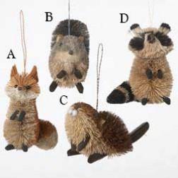 "Image of 3.5-6"" Buri Woodland Animal Ornament"