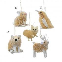 "3.5"" Buri Winter Animal Ornament"