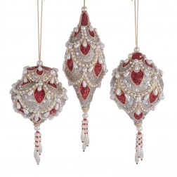"Image of 5.5-6""Ruby Platinum Hanging Orn 3/A"
