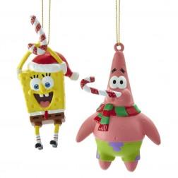 "Image of 4""Plstc Spongebob/Patrick Orn 2/A"