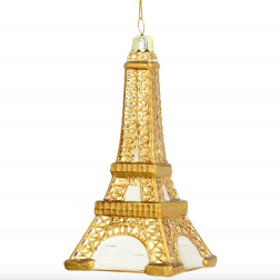 """Image of 4.25"""" Glass Eiffel Tower Ornament"""