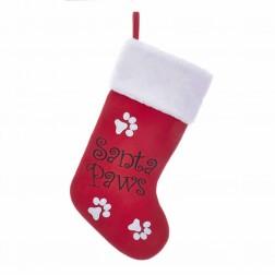 """Image of 19""""Red """"Santa Paws"""" Stocking"""