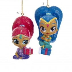 """3.5"""" Shimmer/Shine Blow Mold Ornament"""