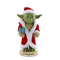"""Image of 9""""Yoda In Santa Robe Nutcracker"""