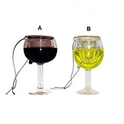 Glass Wine Cup Ornament