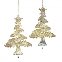 Ivory and Gold Christmas Tree Ornament