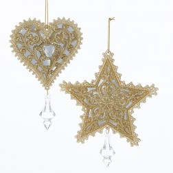 "Image of 5.75-6""Acrylic Plat Star/Heart Orns"
