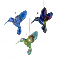 "Image of 4.25"" Acrylic Hummingbird Ornament"