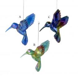 "Image of 4.25"" Acrylic Hummingbird Ornament"
