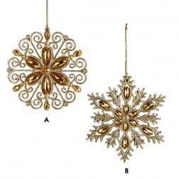 Acrylic Gold Glitter Snowflake Ornament