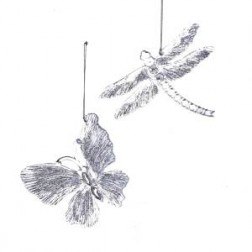 """Image of 4""""Clr Buttrfly/Dragonfly W/Glitter"""