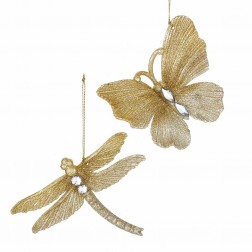 "Image of 4""Butterfly/Dragonfly Gold Glttr 2A"