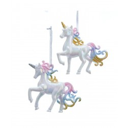 "Image of 4""Wht W/Mult Pastl Color Unicorn 2A"