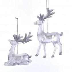 "Image of 3.7-5.9""Clr W/Glttr Reindeer Orn 2A"