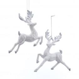 "Image of 5-6""Wht/Silv Glttr Reindeer Orn 2A"
