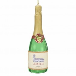 "Image of 6""Glass Champagne Bottle Orn"