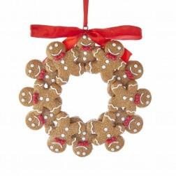 "Image of 4.75""Gingerbread Boy Wreath Orn"