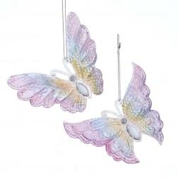 """Image of 5.2""""Butterfly W/Glitter Orn 2/Asstd"""