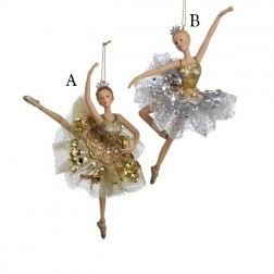 "6.25"" Resin Ballerina Ornament"