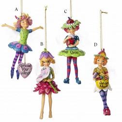 """5"""" Multi Color Garden Fairy Ornament"""