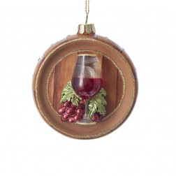 "Image of 3""Wine Glass W/Grapes Orn"