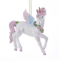 Image of Glittered Unicorn Ornament