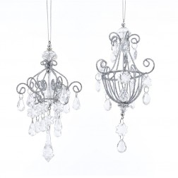 """Image of 6""""Acrylic Drop Chandelier Orns 2/A"""