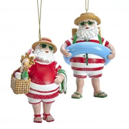 "Image of 4""Resin Beach Santa Orn 2/Asstd"
