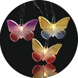Image of Multi-Color Butterfly Christmas Lights