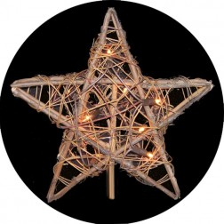 Image of 10-light Rattan Natural Star Treetop