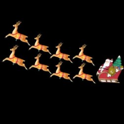 10-Light Santa Sleigh and Eight Reindeer Light Set