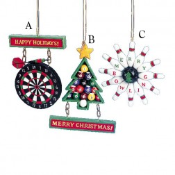 Dart Board/Bowling/Billiards Ornament