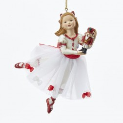 "5.5"" Resin Clara Nutcracker Suite Ornament"