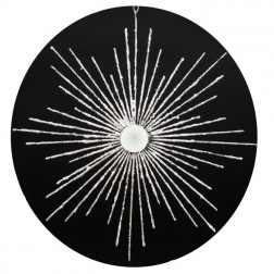 Image of Silver Wire Snowflake with Mirror Ornament