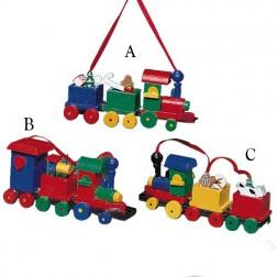 "4.5"" Wooden Train Ornament"