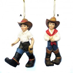 Cowboy or Cowgirl Christmas Ornament
