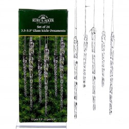 """Image of 3.5-5.5""""Clear Gls Icicle Orns 24Pc"""