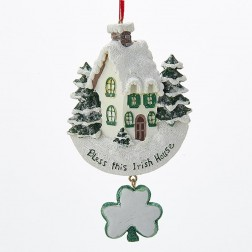 """Image of 5.5"""" """"Bless this Irish House"""" Ornament"""