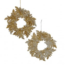 "Image of 5""Gold/Silver Acrylic Wreaths"