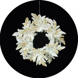 Elegance Silver Wreath Ornaments