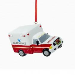 "4"" Resin Ambulance Ornament"