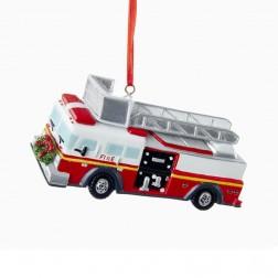 "4.25"" Resin Fire Truck Ornament"